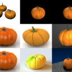 10 Realistic Pumpkin 3D Models Collection