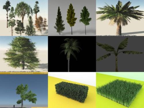 10 árbol realista gratis OBJ Modelos 3D - Semana 2020-41