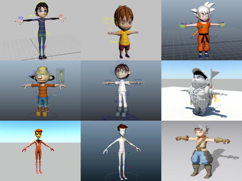 10 Rigged Modelos 3D de personajes de niño - Semana 2020-43