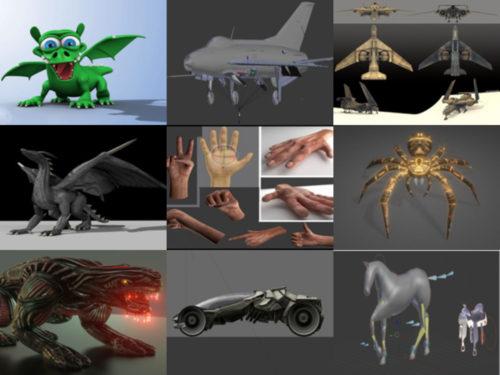 10 Rigged Ilmainen Blender 3D-mallit - viikko 2020-40