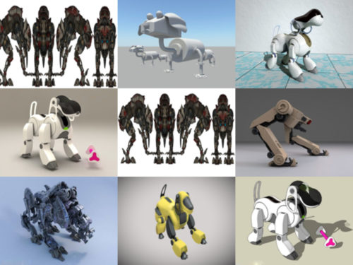 10 Robot Dog Free 3D Models Collection