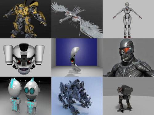 10 Robot Gratis OBJ Modelos 3D - Semana 2020-40