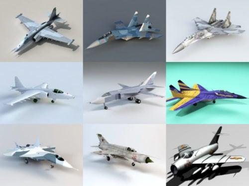 10 Russian Aircraft Free 3D Models – Week 2020-41