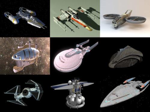10 طائرات خيال علمي مجانية OBJ نماذج ثلاثية الأبعاد - الأسبوع 3-2020