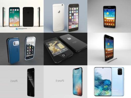 10 هاتف ذكي مجاني OBJ نماذج ثلاثية الأبعاد - الأسبوع 3-2020