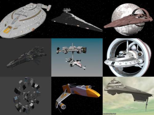 10 Spacecraft Free OBJ 3D Models – Week 2020-41