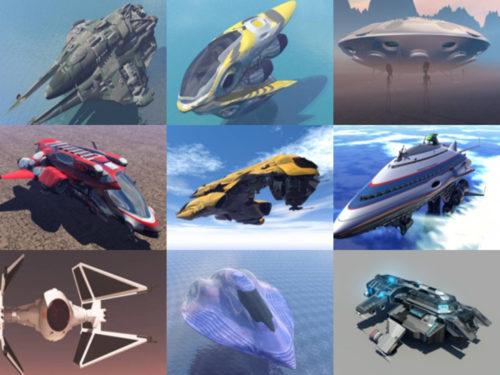 10 فضاء مجاني OBJ نماذج ثلاثية الأبعاد - الأسبوع 3-2020