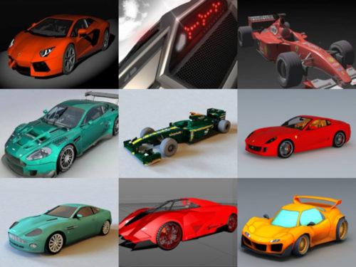 10 coches deportivos gratis OBJ Modelos 3D - Semana 2020-41