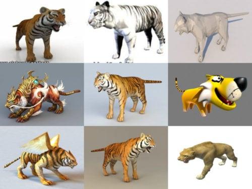 10 tigre libre OBJ Semana de modelos 3D 2020-41