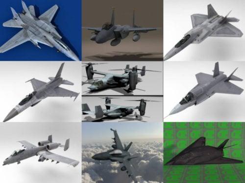 10 US Aircraft Free 3D Models – Week 2020-41
