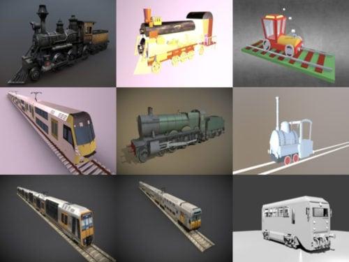 10 قطار مجاني Blendنماذج er 3D - الأسبوع 2020-40
