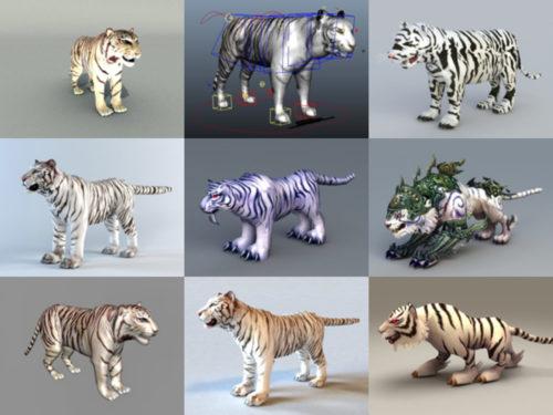 10 modelos 3D sin tigre blanco