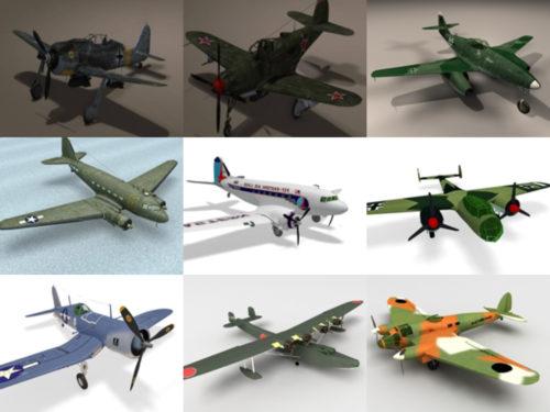 10 WW2 Aircraft Free 3D Models – Week 2020-41