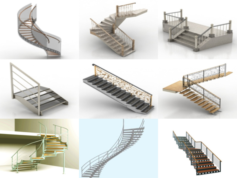 12 3ds Max Stair 3D Models – Day 18 Oct 2020