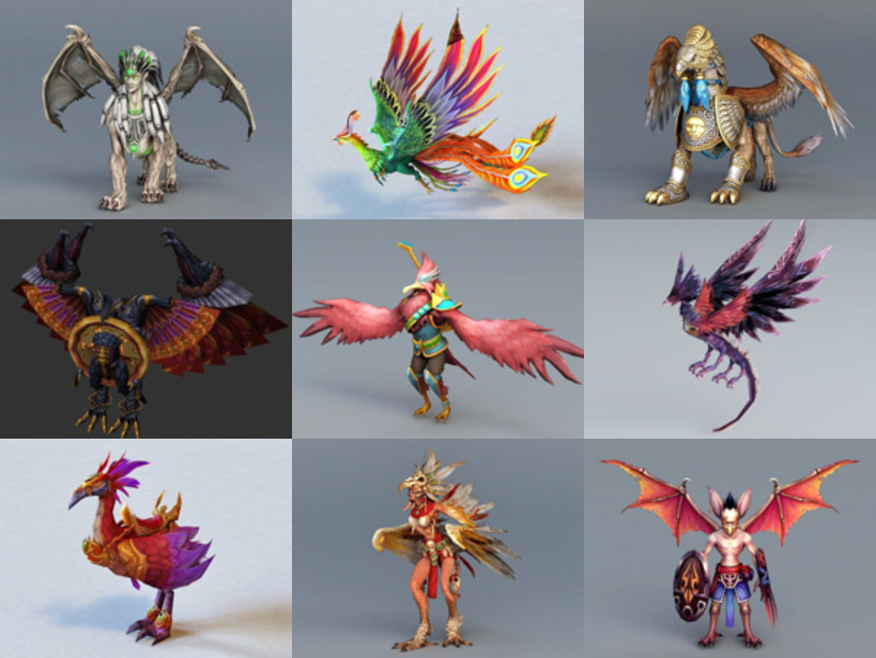 12 Bird Character 3D Models for Game Design – Week 2020-43