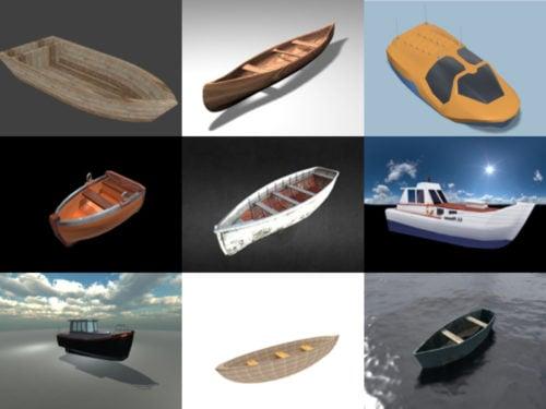12 قارب مجاني Blendنماذج er 3D - الأسبوع 2020-40