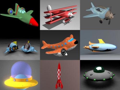 12 sarjakuvalentokoneiden ilmaista 3D-mallia - viikko 2020-41