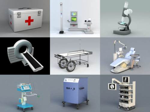 12 Hospital Equipment Free 3D Models – Week 2020-41