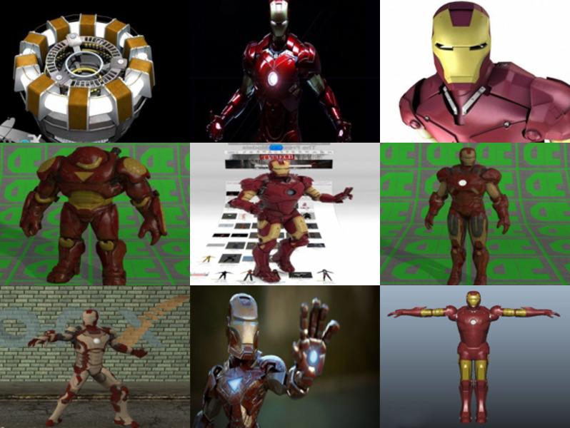 12 Iron Man Character 3D Models – Week 2020-43