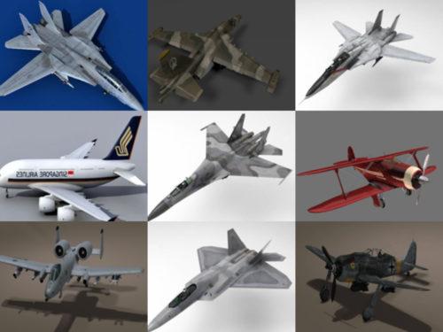12 aviones realistas gratis OBJ Modelos 3D - Semana 2020-40