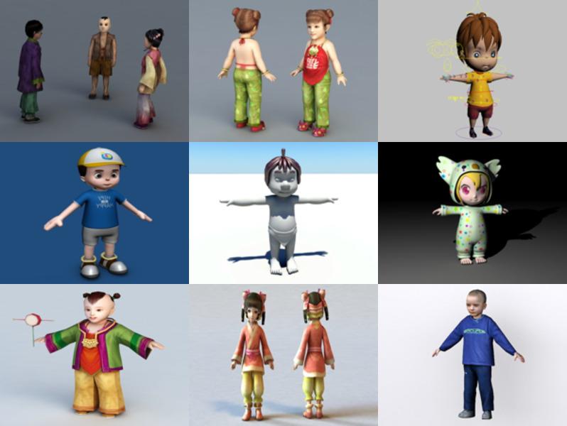 12 مجموعة نماذج ثلاثية الأبعاد للأطفال الصغار