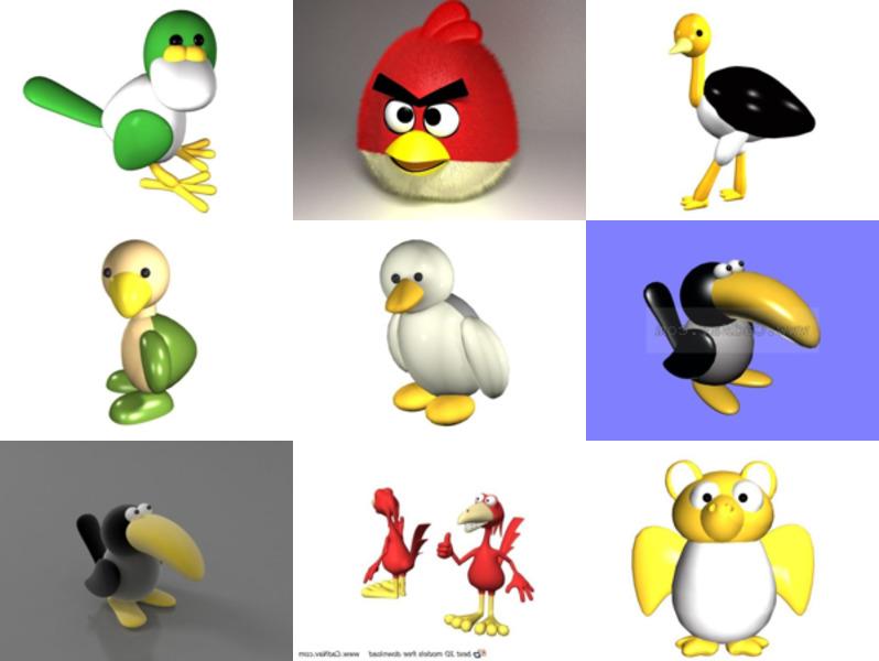 12 Toy Bird 3D -mallia Ilmainen lataus