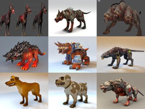 12 Zombie Dog Free 3D -mallikokoelmaa