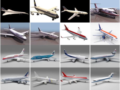 20 مجموعة نماذج ثلاثية الأبعاد خالية من الطائرات