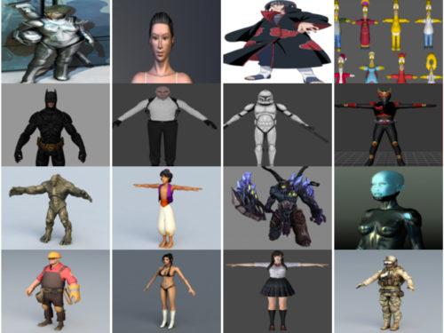20 merkkiä vapaa OBJ 3D-mallit - viikko 2020-41