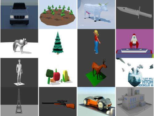 20 Lowpoly Ilmainen Blender 3D-mallit - viikko 2020-40