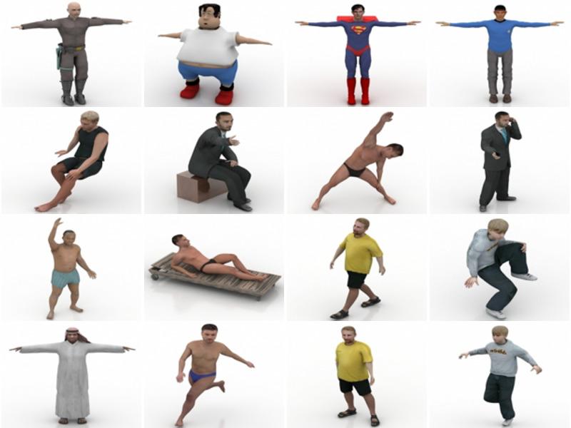 20 Lowpoly نماذج شخصيات الرجل ثلاثية الأبعاد - الأسبوع 3-2020