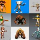 20 modelos en 3D gratuitos de personajes de dibujos animados de monos