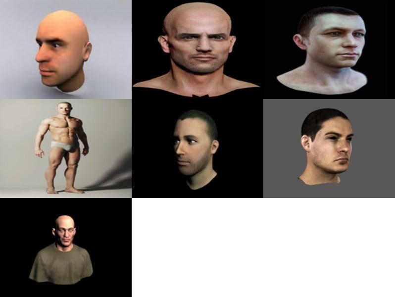 7 نماذج مجانية ثلاثية الأبعاد للرجل الواقعي - الأسبوع 3-2020