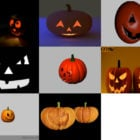 8 Halloween Pumpkin 3D Models Collection