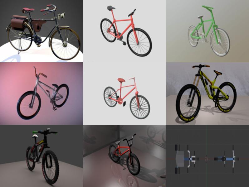 9 Blender Bicycle Free 3D Models – Week 2020-43