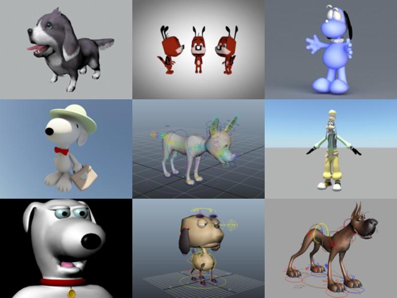 9 Cartoon Dog Free 3D Models – Week 2020-43