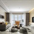 Apartment Living Room Modern Style Interior Scene