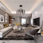 Apartment Modern Living Room Interior Scene