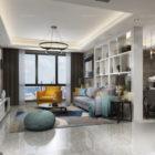 Apartment Living & Dinning Room Interior Scene