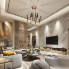 Marmor fertig Wohnzimmer moderne Innenszene