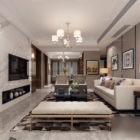 Elegant Design Living Room Interior Scene
