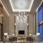 Luxury Duplex Living Room Interior Scene