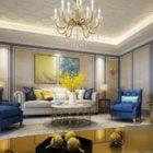 Interior Scene European Style Living Room