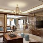 Royal Living Room Villa Interior Scene
