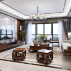 Living Room With Chinese Furniture Interior Scene