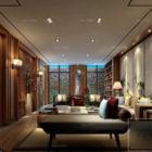 Modern Villa House Interior Scene