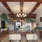 Mediterranean Retro Living Room Interior Scene