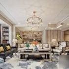 Living Room Interior Scene With Bookcase
