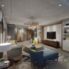 Small House Living Room Interior Scene
