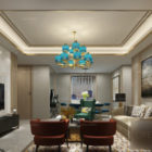 Dinning And Living Room Interior Scene Modern Design